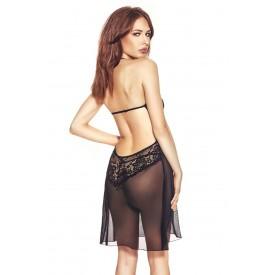 Изысканная прозрачная сорочка Rosana с кружевным лифом